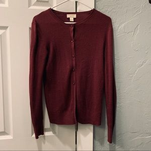 LOFT maroon/dark red cardigan